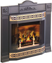 Starfire-with-Bay-Front,-Cast-Iron-Surround-and-Gold-Insets