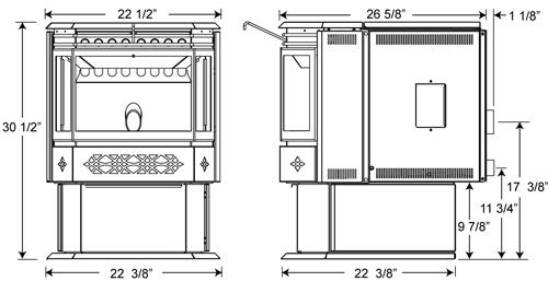 echo pellet stove nps45  u2013 fireplacepro