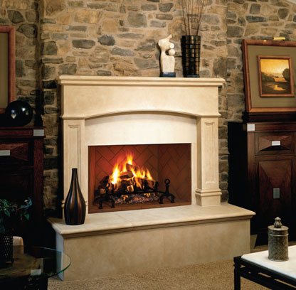 Fmi Georgian Masonry Wood Fireplace Fireplacepro