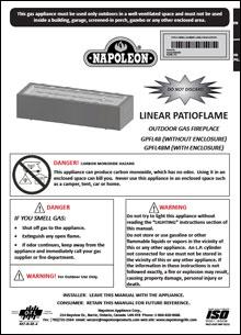 linear patioflame manual
