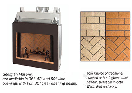 FMI Georgian Masonry Wood Fireplace – Fireplacepro