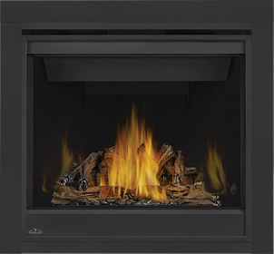 PHAZER® Log Set, MIRRO-FLAME™ Porcelain Reflective Radiant Panels