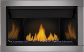 Acsent BL36 Crushed Glass Blue PRRP Silver Surround