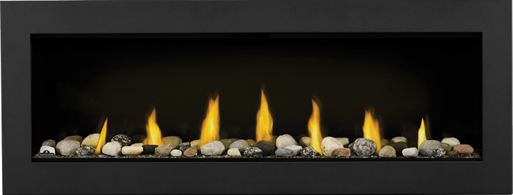 glass rocks for gas fireplaces. L50 Mineral Rock Topaz Glass Embers Black Front Napoleon Acies Gas Fireplace  Fireplacepro