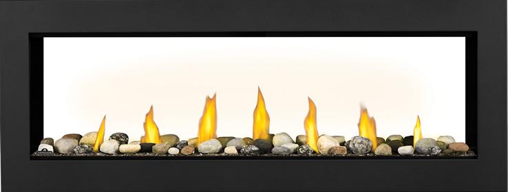 L50ST Mineral Rock Topaz Glass Embers Black Front
