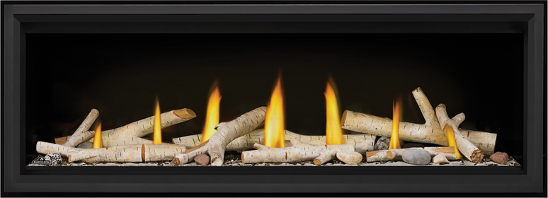 LV50 Birch Log Shore Fire Premium Safety Barrier