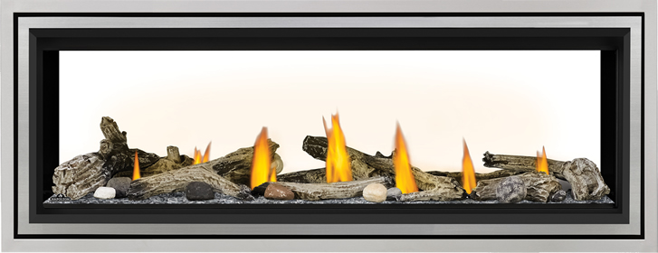 LV50ST Beach Fire Glass Beads SS Trim Premium Safety Barrier