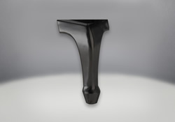Elegant Iron Cast in Metallic Black Finish