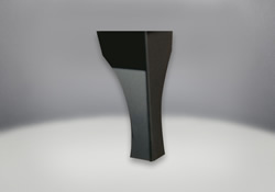 Traditional Steel Leg in Metallic Black Finish