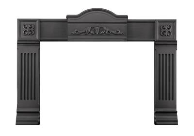 image of optional cast iron surround with painted black finish