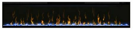 Dimplex Ignite 74 with blue lighting