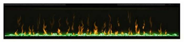 Dimplex Ignite 74 with green lighting