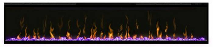 Dimplex Ignite 74 with purple lighting
