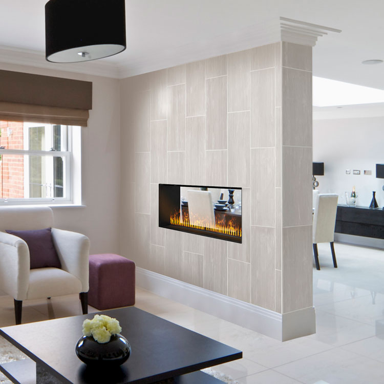Dimplex Opti-myst Pro 1000 Built-in Electric Firebox as See-Through