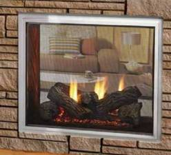 Outdoor Lifestyles Fortress Indoor Outdoor Gas Fireplace