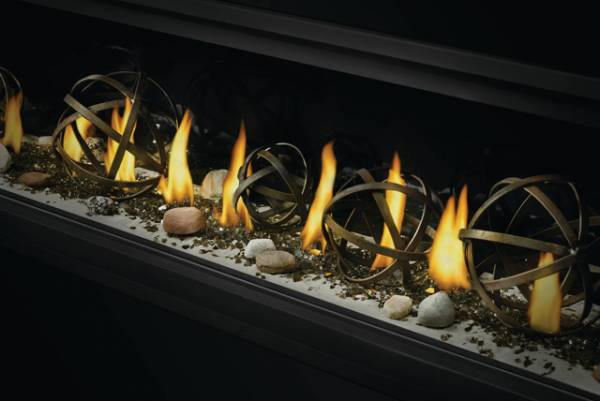 Wrought Iron Globes Shore Fire Kit Vector Linear
