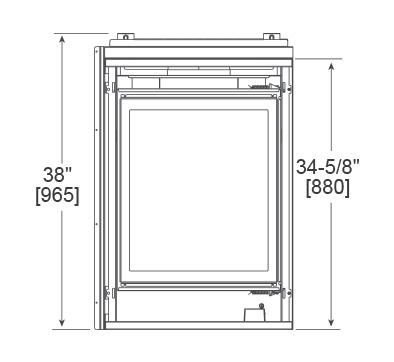 Corner Viewable End Dimensions