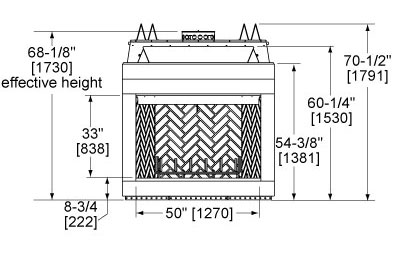 Biltmore 50 Front Dimensions