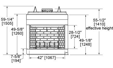 Biltmore 42 Front Dimensions