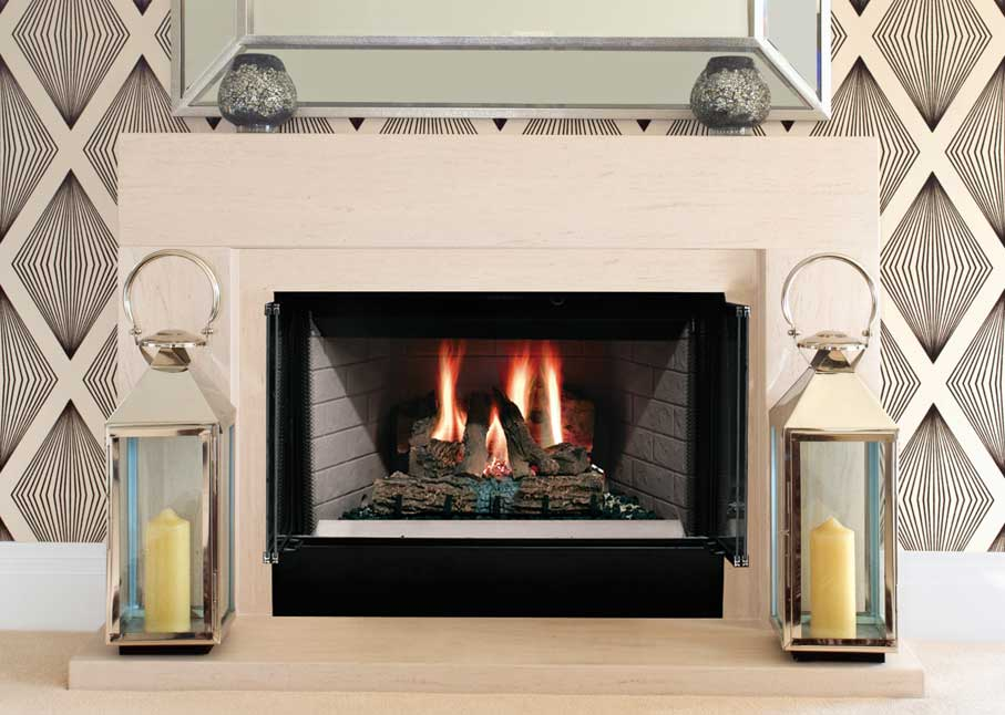 Majestic Sovereign Wood Burning Fireplace Radiant Heat SA36R SA42R