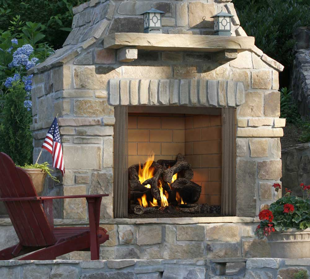 Castlewood Outdoor Wood Burning Fireplace