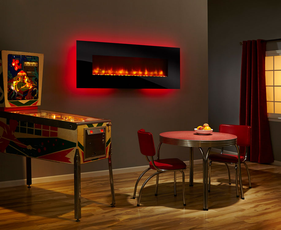 SimpliFire Modern Wall-Mount Electric Fireplace 70