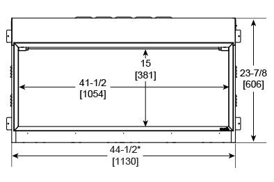 SimpliFire Scion 43 Front Dimensions SF-SC43-BK