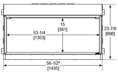 SimpliFire Scion 55 Front Dimensions SF-SC55-BK