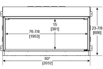 SimpliFire Scion 78 Front Dimensions SF-SC78-BK
