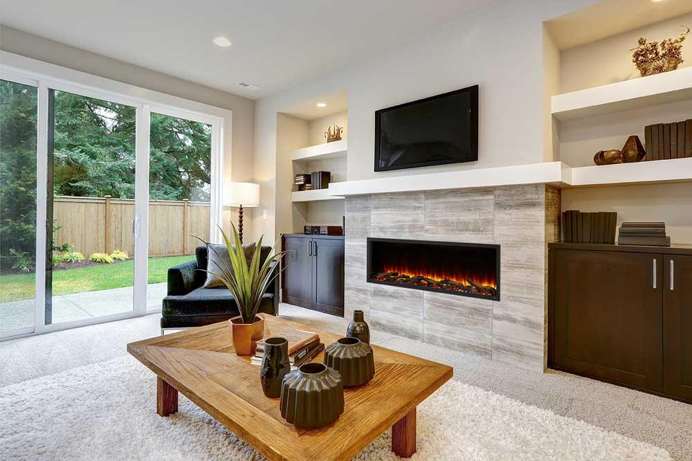 SimpliFire Scion Linear Electric Fireplace by Majestic