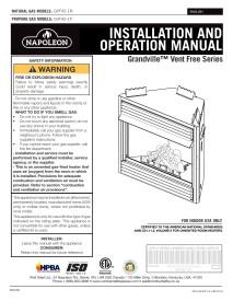 Click for Napoleon Grandville 42 Vent Free Manual