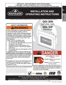 Click for Napoleon Roxbury GDI30 Manual