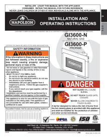 Click for Napoleon Roxbury GI3600 Manual