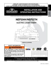 Napoleon Woodland 24 and 27 Electric Log SetManual