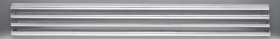 image of brushed stainless steel louvres for GVF42