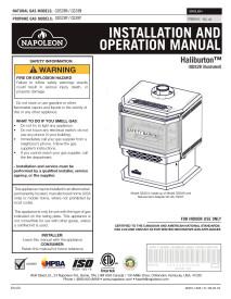 Click for Napoleon Haliburton GDS28 Manual