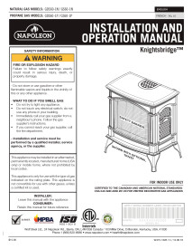 Click for the Napoleon Knightsbridge GDS60 Manual