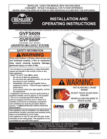 Click for Napoleon Knightsbridge GVFS60 Manual