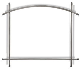 Altitude X Arched Iron Elements - Antique Pewter (Optional - fits on Whitney Front)
