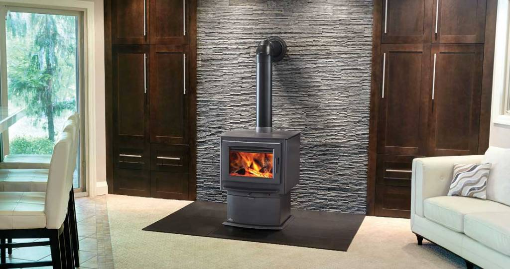 Napoleon S-Series Wood Stove shown in living room