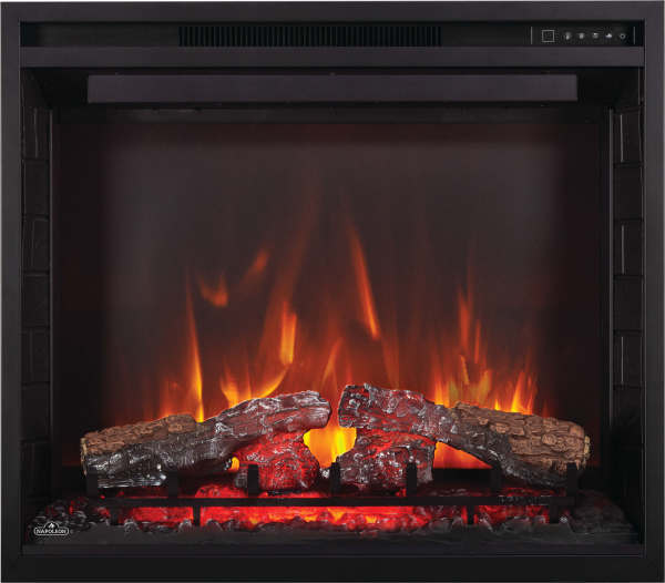 Napoleon Element 36 Electric Fireplace Flames and Glowing Embers