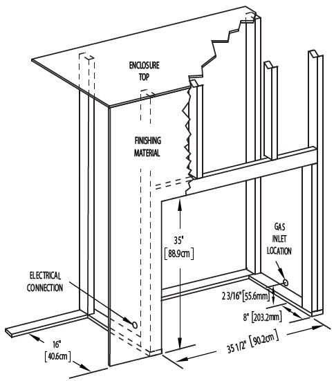 Napoleon Ascent 30 B30 Framing Dimension Diagram