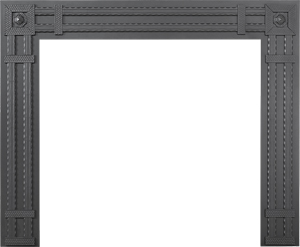 Rectangular Wrought Iron Decorative Surround