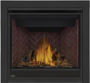 Napoleon Ascent GX36-1 PHAZER® Log Set, Old Town Red Herringbone Brick Panels, 3