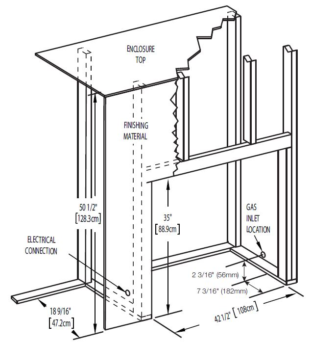 Napoleon Ascent B42 Framing Diagram