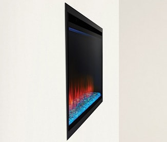 Image of SimpliFire Allusion Platinum electric fireplace Fully Recessed Installation