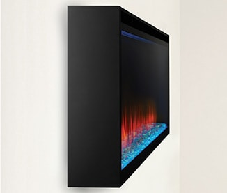 Image of SimpliFire Allusion Platinum electric fireplace Wall Mounted Installation