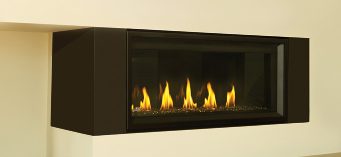Image of Napoleon Vector Linear Gas Fireplace with End Panel Kit EPK1