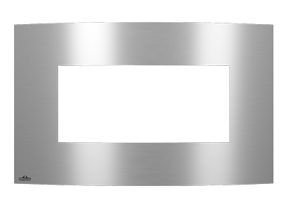 Image of Convex Brushed Stainless Steel Surround with Safety Barrier S31CVSSSB for Plazmafire 31