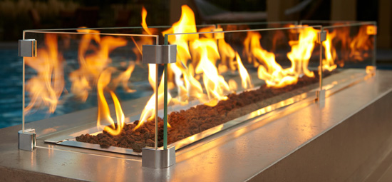 Click image for more information regarding Majestic Outdoor Lifestyles Plaza Linear Gas Fire Pit